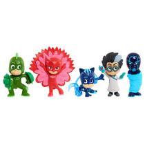 Conjunto de 5 Figuras - 08 cm - PJ Masks - Night Ninja - Novas Poses - DTC -