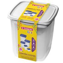 Conjunto De 5 Peças Plástico- SANREMO -