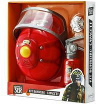 Conjunto de Acessórios - Brincando de Ser - Kit Bombeiros - Multikids -