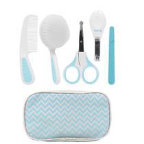 Conjunto de Acessórios de Higiene - Cuidados Baby - 9 Peças - Azul - Buba -