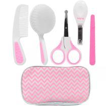 Conjunto de Acessórios de Higiene - Cuidados Baby - 9 Peças - Rosa - Buba -