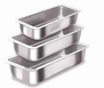 Conjunto de Assadeiras Formas Para Pão em Alumínio 3 Peças - Epm Acessórios