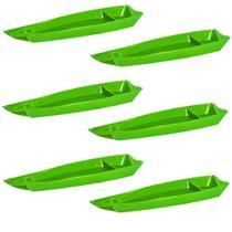 Conjunto de Barco Sushi Vemplast G 3,5 Litros com 6 peças Linha Tropical em Polipropileno -
