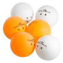 Conjunto de bolas p/ping pong (6pc) unica - Nautika
