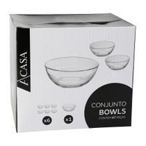 Conjunto de Bowls Fiesta Vidro com 7 Peças - A/CASA -
