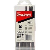 Conjunto de brocas makita sds-plus com 5 pcs -