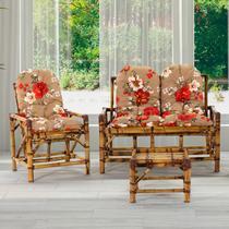 Conjunto de cadeiras para área, Varanda, edícula, jadrim, VIME, assento estofado - Vl Decor