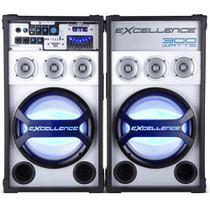 Conjunto de Caixas de Som Amplificadas NKS Excellence PK-3000 com 300W Bluetooth Rádio FM e Microfone com fio - Preta -
