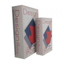 Conjunto de Caixas Livro em Madeira Design at Home - Decorafast