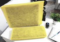 Conjunto de Capas para Teclado e Monitor 19 , 20 e 21 Polegadas na cor Amarela em TNT - Fornecedor Mundial
