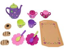 Conjunto de chá de brinquedo - 13 itens - Bbr Importação