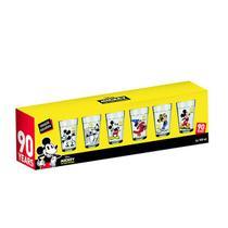 Conjunto de Copos Americano Linha do Tempo Mickey 90 anos - 6 peças - Nadir Figueiredo