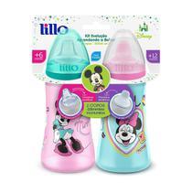 Conjunto De Copos De Treinamento - 6 e 12 Meses - Disney - Minnie - Colors - Lillo -