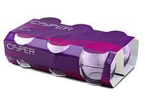 Conjunto de Copos Rocks 345 ml (6 unidades) Bellize Lilás Cisper - CIS 069 -