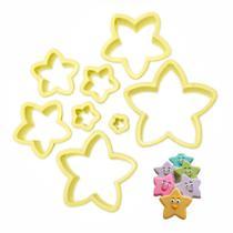 Conjunto de Cortadores de Massa Estrela - 8 peças - Blue Star