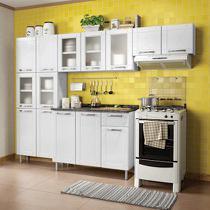Conjunto de Cozinha 3 Peças CZM04 com Balcão 3 Portas 1 Gaveta 6112 Bertolini Branco -