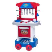 Conjunto de Cozinha Infantil - Play Time - Azul e Vermelho - Cotiplás - Cotiplas