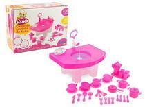 Conjunto de cozinha pia da kuka simo toys -