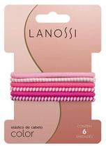 Conjunto de elásticos lanossi color pink c/6 -