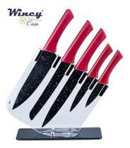 Conjunto de Facas Chef C/ Suporte Ixb08092 - WINCY