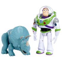 Conjunto de Figuras - 30 Cm - Disney - Pixar - Toy Story 4 - Buzz Lightyear e Trixie - Mattel -