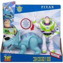 Conjunto de Figuras Buzz Lightyear e Trixie Disney Pixar Toy Story 4 Mattel -
