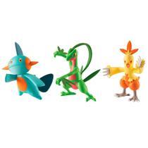 Conjunto de Figuras - Pokémon - Grovyle - Combusken - Marshtomp - Sunny -