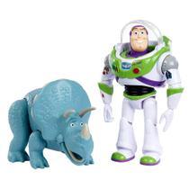 Conjunto de Figuras - Toy Story 4 - Buzz Lightyear e Trixie - Disney - Mattel -