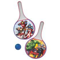 Conjunto de Frescobol - Marvel - Avengers -Vermelho e Branco - Líder - Lider