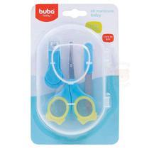 Conjunto de Higiene - 3 Unidades - Manicure Baby - Azul - Buba -