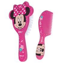 Conjunto de Higiene - Escova de Cabelo e Pente - Disney - Minnie Mouse - Lillo -