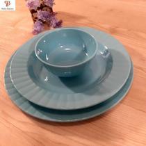 Conjunto de jantar em melamina plástico resistente coloridos (18 peças) - ART HOUSE
