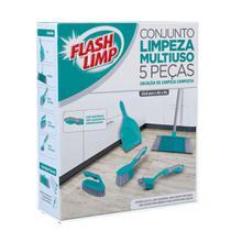 Conjunto de Limpeza Multiuso 5 Peças FlashLimp -