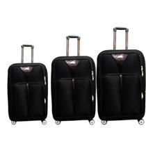 Conjunto de mala de viagem 3 peças com rodinhas e giro 360 cadeado expansivel kangur -