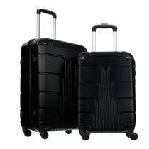 Conjunto de mala de viagens fibra rígida abs 2 pçs -  p/m - W-Imports