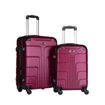 Conjunto de mala de viagens fibra rígida abs 2 pçs -  p/m - W