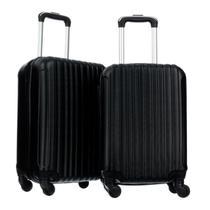 Conjunto de mala de viagens fibra rígida abs 2 pçs - p/pp - W-Imports