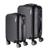 Conjunto de Malas de Viagem em ABS Yins 21072 Rodas Duplas e Cadeado Integrado 2Pcs PP/P - Cinza -