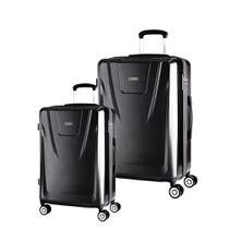 Conjunto de Malas de Viagem Expansível em Policarbonato SAMSONITE Derby Cadeado TSA 2Pcs P/M Preta -