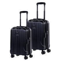 Conjunto de Malas de Viagem Expansível em Policarbonato SAMSONITE Fiero Cadeado TSA 2Pcs P/M Preta -