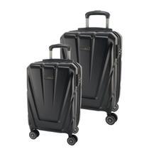 Conjunto de Malas de Viagem Expansível em Policarbonato SAMSONITE Vegas Cadeado TSA 2Pcs P/M Preta -