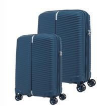 Conjunto de Malas de Viagem Expansível em Polipropileno Samsonite Varro 2Pcs P/M Cadeado TSA Marinho -
