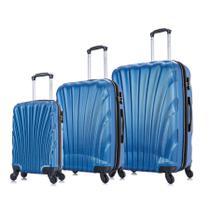 Conjunto de malas de viagem P, M e G Dizy Swiss Move Azul -