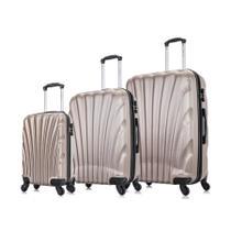Conjunto de malas de viagem P, M e G Dizy Swiss Move Champagne -