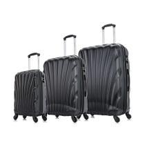 Conjunto de malas de viagem P, M e G Dizy Swiss Move Preta -