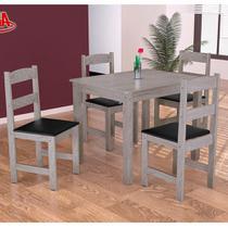 Conjunto de Mesa 4 Cadeiras com Tampo de Madeira Praiana Arauna - Moveis arauna