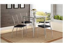 Conjunto de Mesa 4 Cadeiras Móveis Carraro - Iara