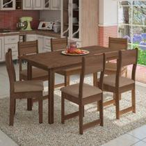 Conjunto de Mesa 6 Cadeiras Dallas Plus Indekes 9834 -