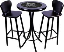 Conjunto de mesa bistrô com 2 banquetas azulejo jack daniels - Espacio Móveis Bar