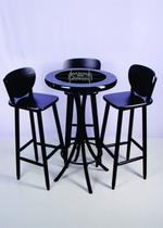 Conjunto de mesa bistrô com 3 banquetas azulejo jack daniels - Espacio Móveis Bar